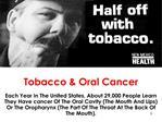 Tobacco  Oral Cancer