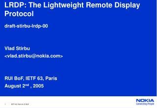 LRDP: The Lightweight Remote Display Protocol