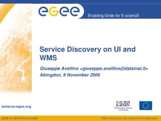 Service Discovery on UI and WMS
