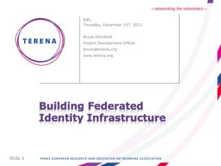 Building Federated Identity Infrastructure