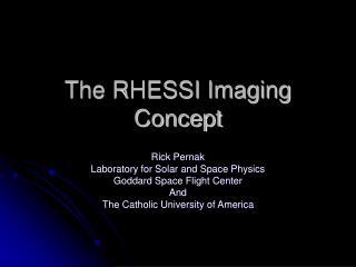The RHESSI Imaging Concept