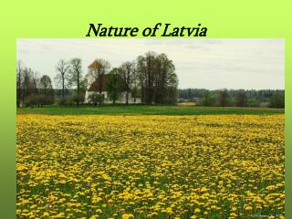 Nature of Latvia