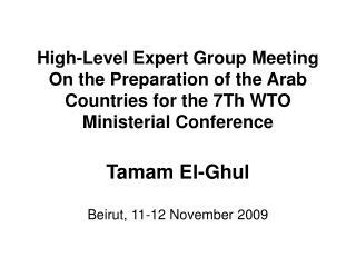 Tamam El-Ghul Beirut, 11-12 November 2009