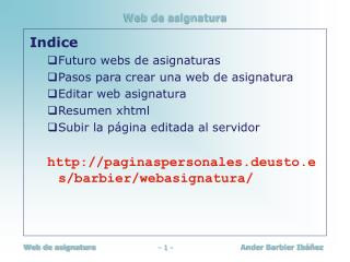 Web de asignatura