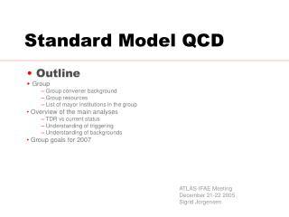 Standard Model QCD