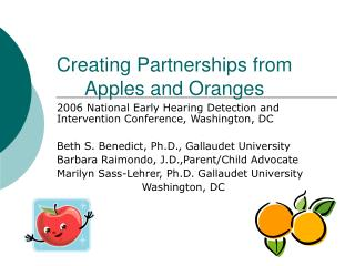 Creating Partnerships from Apples and Oranges
