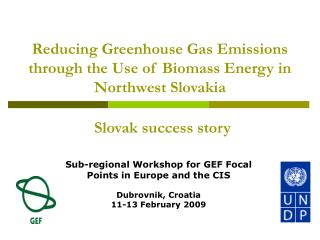 Reducing Greenhouse Gas Emissions through the Use of Biomass Energy in Northwest Slovakia