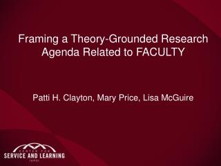 Framing a Theory-Grounded Research Agenda Related to FACULTY