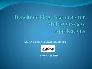 Benchmarking  Reasoners  for Multi-Ontology Applications
