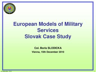 European Models of Military Services Slovak Case Study