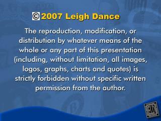 2007 Leigh Dance