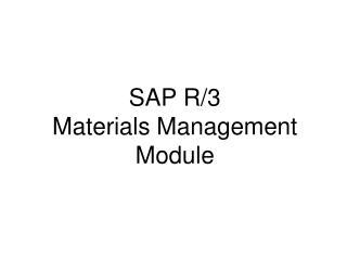 SAP R