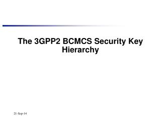 The 3GPP2 BCMCS Security Key Hierarchy