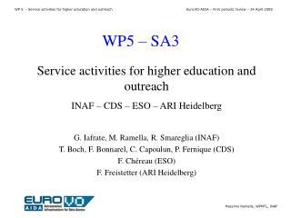 WP5 – SA3
