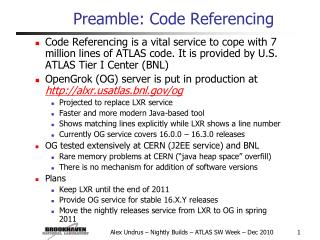 Preamble: Code Referencing