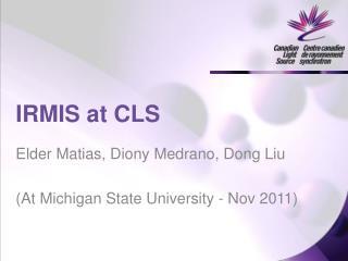 IRMIS at CLS