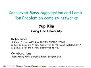 Yup Kim Kyung Hee University