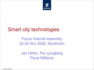 Smart city technologies
