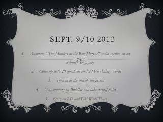 Sept. 9/10 2013