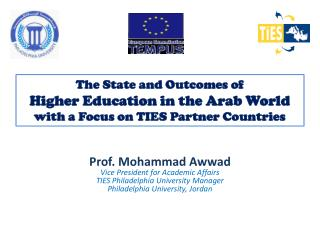 Prof. Mohammad Awwad Vice President for Academic Affairs  TIES Philadelphia University Manager