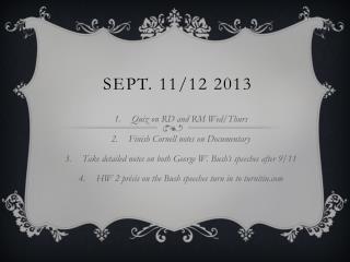 Sept. 11/12 2013