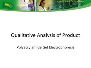 Qualitative Analysis of Product