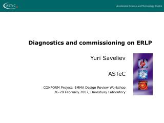 Diagnostics and commissioning on ERLP