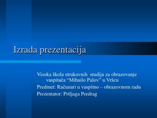 Izrada prezentacija