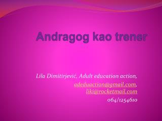 Andragog kao trener