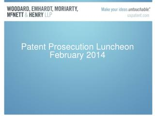Patent Prosecution Luncheon February 2014