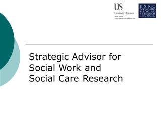 Strategic Advisor for Social Work and Social Care Research