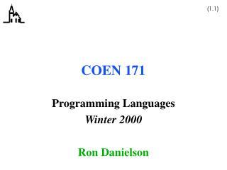 COEN 171