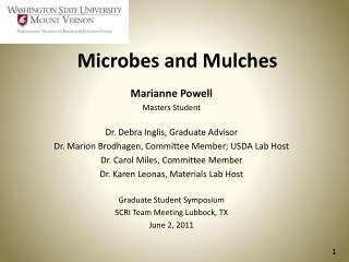 Microbes and Mulches