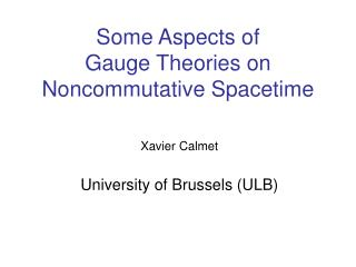 Some Aspects of  Gauge Theories on  Noncommutative Spacetime