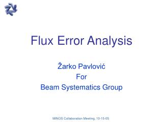 Flux Error Analysis