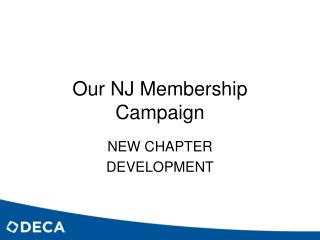 Our NJ Membership Campaign