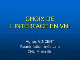 CHOIX DE L'INTERFACE EN VNI