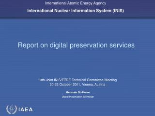 Report on digital preservation services