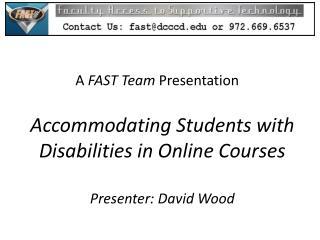 A  FAST Team  Presentation