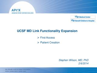 UCSF MD Link Functionality Expansion