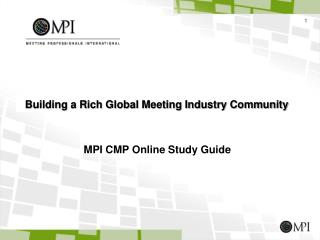MPI CMP Online Study Guide