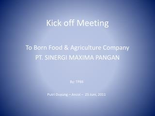Kick off Meeting