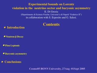 Experimental bounds on Lorentz violation in the  neutrino sector and baryonic asymmetry