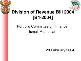 Division of Revenue Bill 2004 [B4-2004]