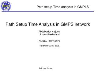 Path setup Time analysis in GMPLS