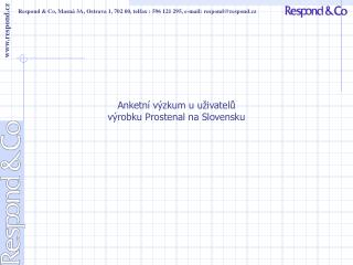 Anketn  v zkum u u ivatelu v robku Prostenal na Slovensku
