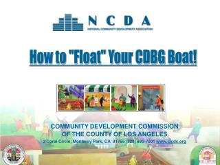 "How to ""Float"" Your CDBG Boat!"