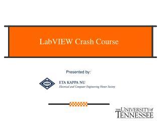 LabVIEW Crash Course