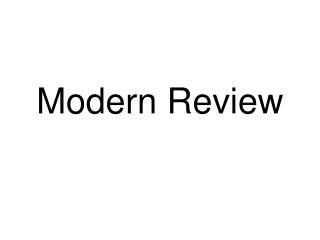 Modern Review