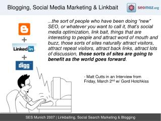 SES Munich 2007 | Linkbaiting, Social Search Marketing & Blogging